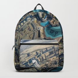 On top of the world, Burj Khalifa, Dubai, UAE Backpack