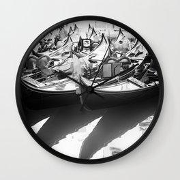 Gondole in Black&White Wall Clock