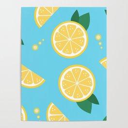 Lemon pattern Poster