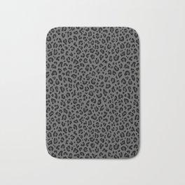 LEOPARD PRINT in Black & Gray / Collection : Leopard spots – Punk Rock Animal Print Bath Mat