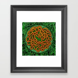 quozarrah jungle serpent mandala Framed Art Print