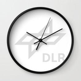 Deutsches Zentrum für Luft- und Raumfahrt (DLR) Logo for Dark Colos Wall Clock