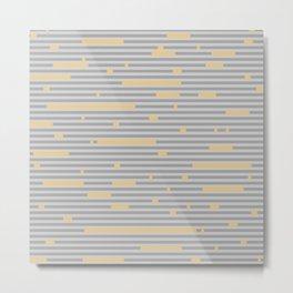 Breaking Stripes Metal Print