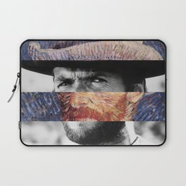 Van Gogh's Self Portrait & Clint Eastwood Laptop Sleeve