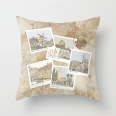 vintage jerusalem Throw Pillow