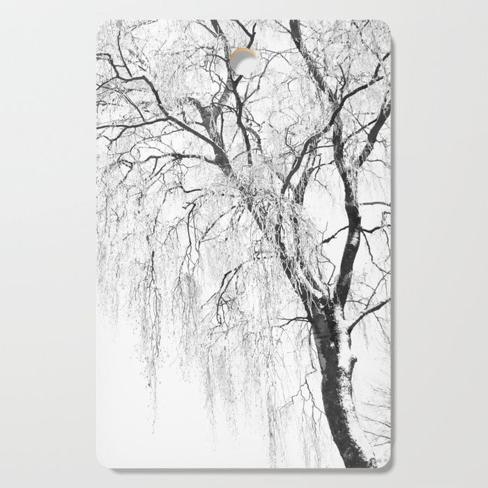 White snow tree Cutting Board