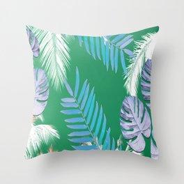 PALMS PRINT Green Throw Pillow