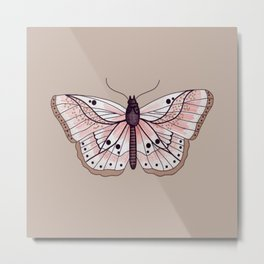 Succulent Hues Moth Metal Print