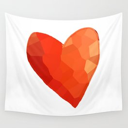 A Single Red Heart Wall Tapestry