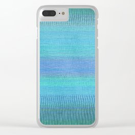 Woven Wonders Blue Clear iPhone Case
