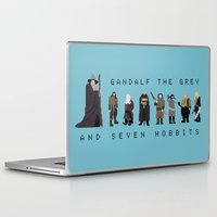 gandalf Laptop & iPad Skins featuring gandalf the grey and seven hobbits by gazonula