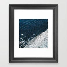 sea - midnight blue silk Framed Art Print