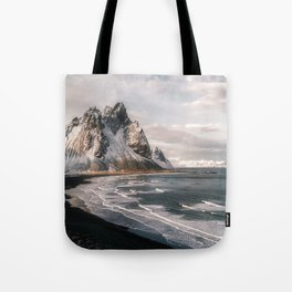 Stokksnes Icelandic Mountain Beach Sunset - Landscape Photography Tote Bag