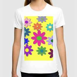 Flower Power, Cute Flowers, Pretty Colorful Flowers T-shirt
