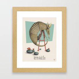 A is for Armadillo Framed Art Print
