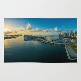 Miami, Florida Panorama Rug