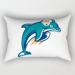 Miami Dolphin Rectangular Pillow