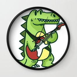 Guitar crocodile Wall Clock