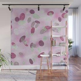 Pink coral dots Wall Mural