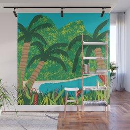 Tropical Island Getaway Wall Mural
