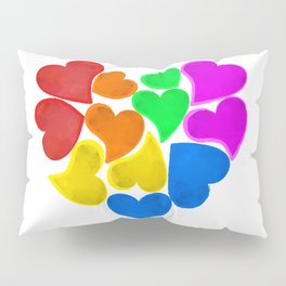 Rainbow Love Pillow Sham