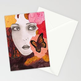 in the hush of autumn Stationery Cards