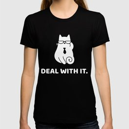 Deal With It - Funny Cat Design T-shirt