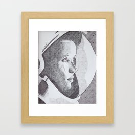 Spacing out squared Framed Art Print