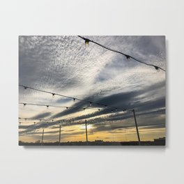 Rooftop Sunset (1) Metal Print