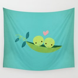 Two Peas in a Pod Wall Tapestry