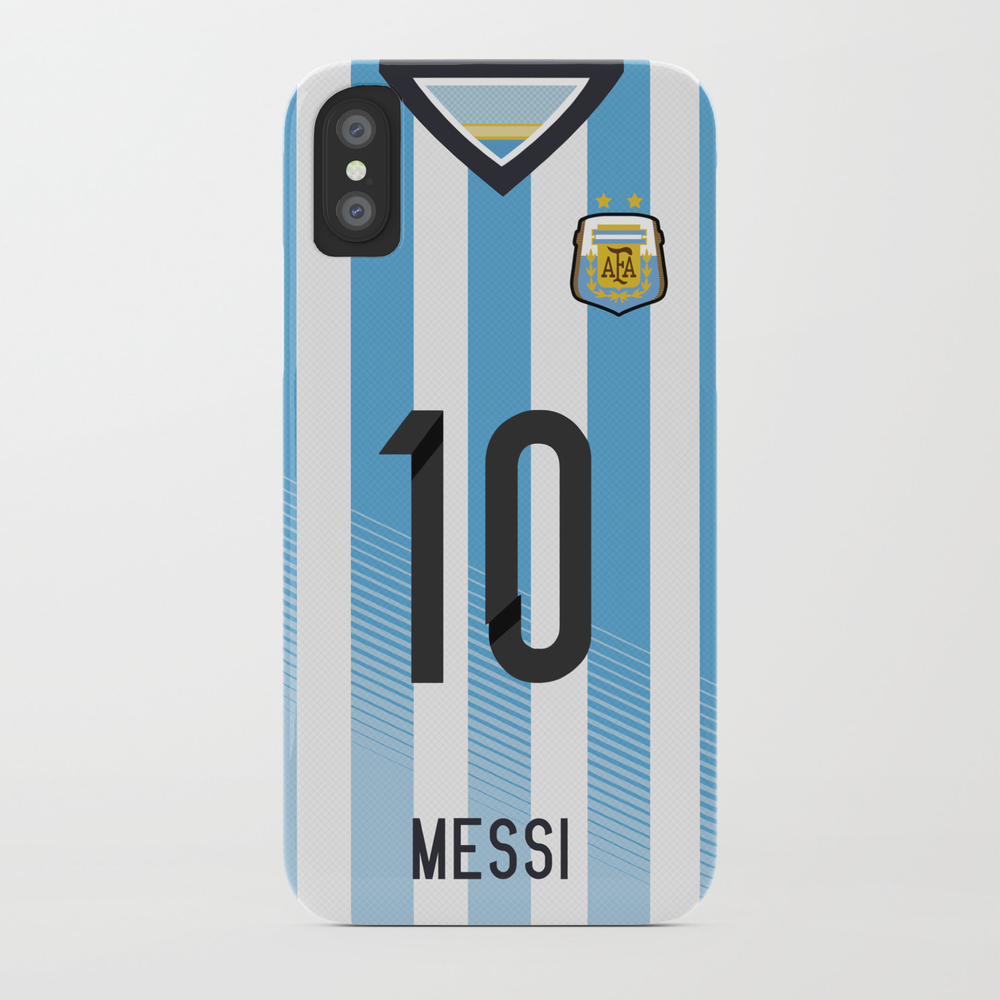 World Cup 2014 - Argentina Messi Shirt Style Phone Case by Maximilian PCS2294780