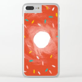 donut with sprinkles Clear iPhone Case