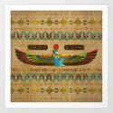 Egyptian Goddess Isis Ornament on papyrus by k9printart