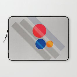 Abstract Suprematism Equilibrium Art Red Blue Yellow Laptop Sleeve