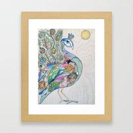 Planetary Peacock Framed Art Print