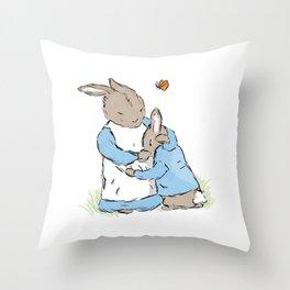 Mama Rabbit Throw Pillow