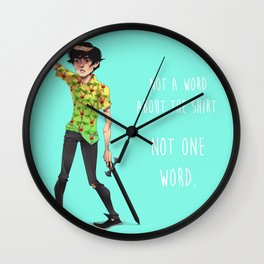 Not One Word Wall Clock