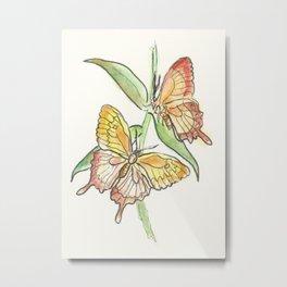 Butterfly Tango Metal Print