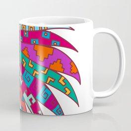 Ancient Aztec Headdress Drawing Color Coffee Mug
