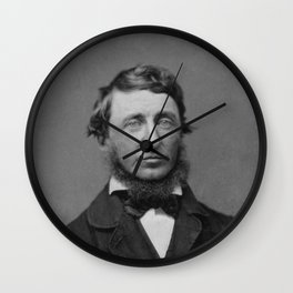 Benjamin Maxham - portrait of Henry David Thoreau Wall Clock
