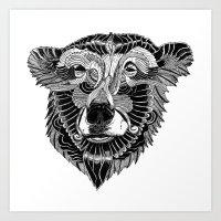 BEAR-HEAD Art Print