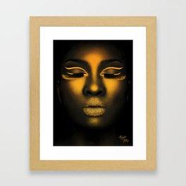 Golden Shimmer Framed Art Print
