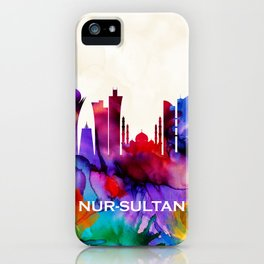 Nur-Sultan Skyline iPhone Case