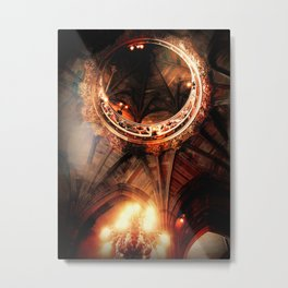 University of Manchester England  Ceiling Library English Charm Photography Metal Print