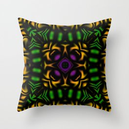 Secondary Kaleidoscope 2 Throw Pillow