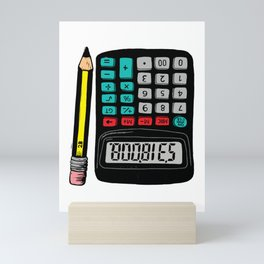 Rude Calculator Mini Art Print