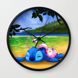 Stitch and cousin Wall Clock