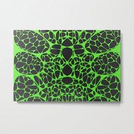 Green on black, organic abstraction Metal Print