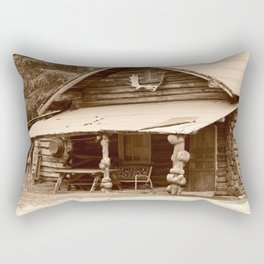 Old Log Cabin Rectangular Pillow