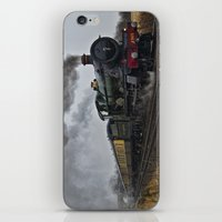 ashton irwin iPhone & iPod Skins featuring Rood Ashton Hall steam locomotive by PICSL8